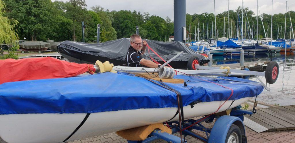 abholung 420er beim tegeler segel club