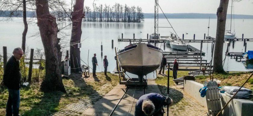 Abslippen eines Boots